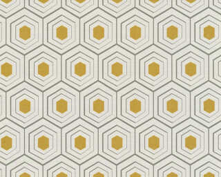 Private Walls Wallpaper «Graphics, 3D, Beige, Gold, Grey, Metallic» 358993