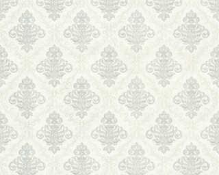A.S. Création Wallpaper «Baroque, Cream, Grey, Metallic, Silver» 359331
