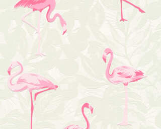 A.S. Création Wallpaper «Floral, Cream, Pink, White» 359801