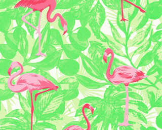 A.S. Création Wallpaper «Floral, Green, Pink, Red» 359802