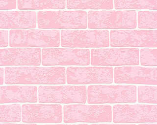 A.S. Création Wallpaper «Stone, Pink, White» 359812
