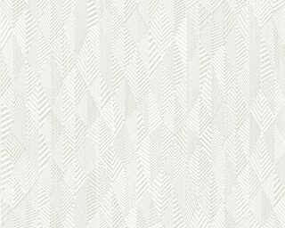 A.S. Création papier peint «Graphique, blanc, crème» 359981