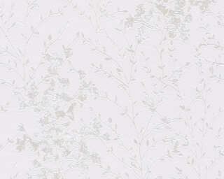 A.S. Création Wallpaper «Cottage, Flowers, Grey, Metallic, White» 360825