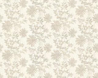 ORIGINALS Wallpaper «Flowers, Beige, Brown, Metallic, Silver» 360841