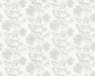 ORIGINALS Wallpaper «Flowers, Grey, Metallic, Silver, White» 360842