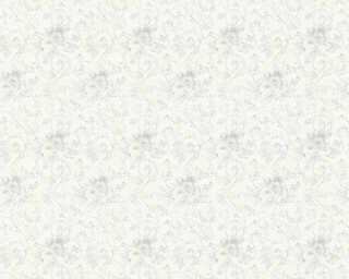 ORIGINALS Обои «Цветы, Белые, Металлик, Серебро, Серыe» 360861