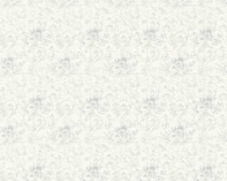 ORIGINALS Wallpaper «Flowers, Grey, Metallic, Silver, White» 360861