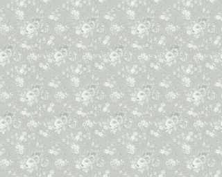 ORIGINALS Wallpaper «Flowers, Cream, Grey, Metallic, Silver» 360863