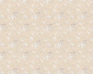 ORIGINALS Wallpaper «Flowers, Beige, Cream, Metallic, Silver» 360864
