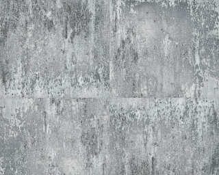 A.S. Création Wallpaper «Concrete, Black, Grey, Metallic, Silver» 361183