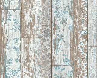 A.S. Création Wallpaper «Wood, Cottage, Beige, Blue, Brown, Cream» 361191