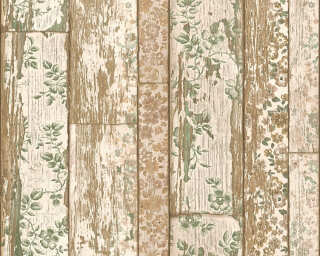 A.S. Création Wallpaper «Wood, Cottage, Beige, Brown, Cream, Green» 361192