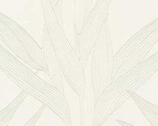 A.S. Création Wallpaper «Floral, Beige, White» 361234