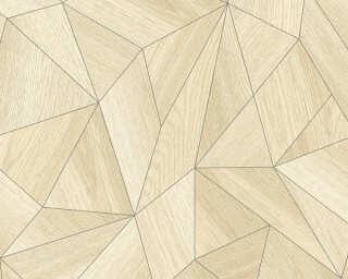 Daniel Hechter papier peint «Bois, 3D, beige, gris» 361331