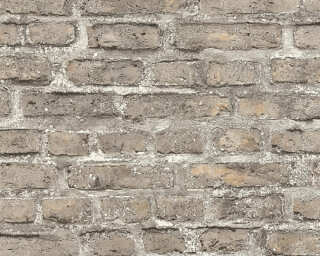 A.S. Création Wallpaper «Stone, Cottage, Brown, Coloured, Grey» 361394