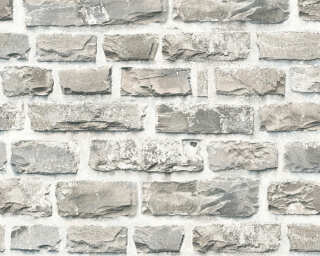 A.S. Création Wallpaper «Stone, Cottage, Beige, Coloured, Grey» 361402