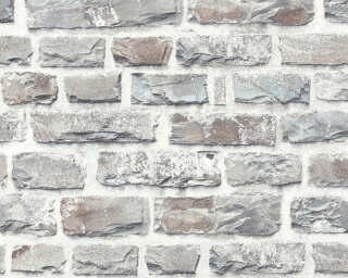 A.S. Création Wallpaper «Stone, Cottage, Coloured, Grey» 361403