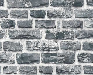 A.S. Création Wallpaper «Stone, Cottage, Black, Coloured, Grey» 361404