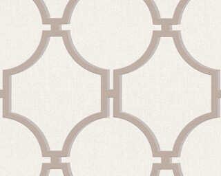 A.S. Création papier peint «Baroque, crème, gris, marron» 361493