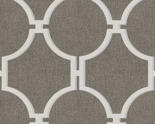 A.S. Création papier peint «Baroque, gris, marron» 361494