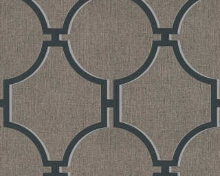 A.S. Création Wallpaper «Baroque, Black, Brown, Grey» 361495