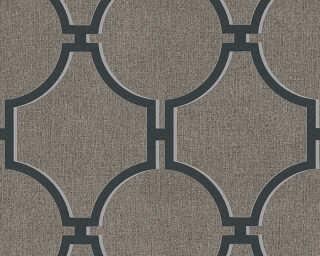 A.S. Création papier peint «Baroque, gris, marron, noir» 361495