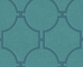 A.S. Création papier peint «Baroque, bleu, turquoise, vert» 361496