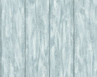 A.S. Création Wallpaper «Wood, Blue, Green, Grey, Turquoise» 361523