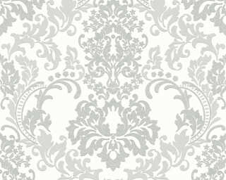 A.S. Création Wallpaper «Baroque, Grey, White» 361664