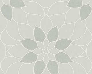 A.S. Création Wallpaper «Flowers, Grey» 361721
