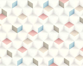 A.S. Création Wallpaper «Graphics, Beige, Blue, Pink» 361852