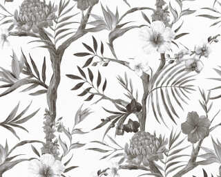 A.S. Création Wallpaper «Jungle, Black, Grey, White» 362022
