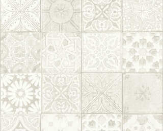 A.S. Création Wallpaper «Tile, Beige, Cream, Grey, Taupe» 362052