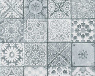 A.S. Création Tapete «Fliesen, Grau, Schwarz, Weiß» 362053