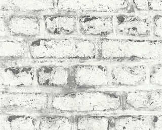 A.S. Création Wallpaper «Stone, Cottage, Grey, White» 362802