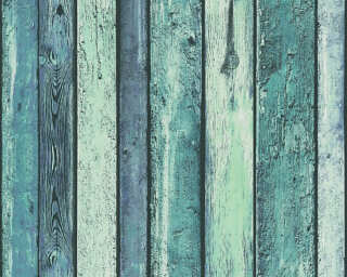 A.S. Création Wallpaper «Wood, Blue, Green, Turquoise» 362821