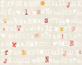 Livingwalls Tapete «Grafik, Beige, Gelb, Orange, Rot» 362984