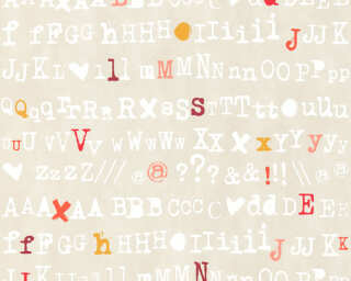 Livingwalls Wallpaper «Graphics, Beige, Orange, Red, Taupe» 362984