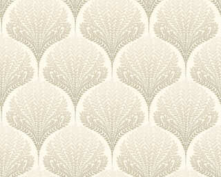 A.S. Création Wallpaper «Graphics, Floral, Beige, Brown, Cream, White» 363103