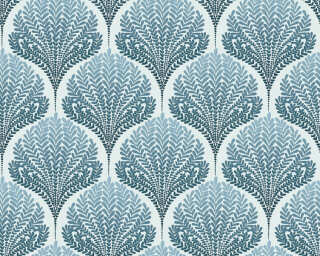 A.S. Création Wallpaper «Graphics, Floral, Beige, Blue, Turquoise, White» 363105