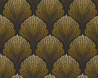 A.S. Création Wallpaper «Graphics, Floral, Black, Brown, Orange, Yellow» 363106