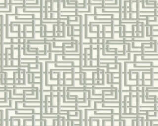 A.S. Création Wallpaper «Graphics, 3D, Grey, Metallic, Silver, White» 363121