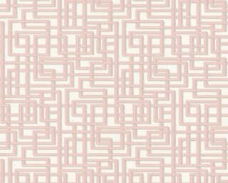 A.S. Création Wallpaper «Graphics, 3D, Grey, Pink, Silver, White» 363122