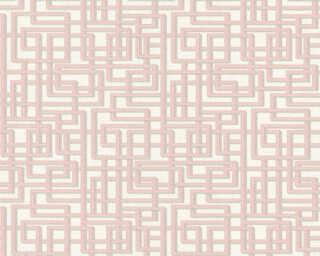 A.S. Création Tapete «Grafik, 3D, Grau, Rosa, Silber, Weiß» 363122