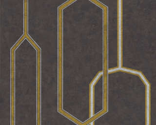 A.S. Création Wallpaper «Graphics, 3D, Black, Gold, Metallic, Silver» 363142