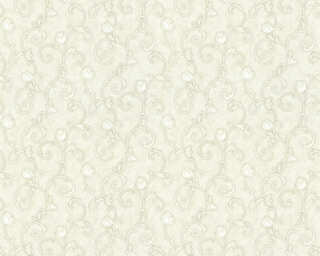 A.S. Création Wallpaper «Floral, Grey, White» 363182