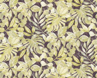 A.S. Création Wallpaper «Flowers, Black, Green, Metallic» 363243