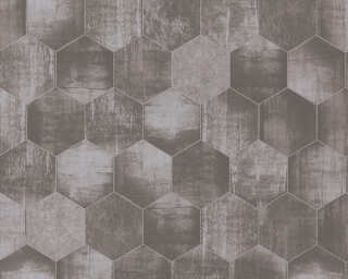 A.S. Création Wallpaper «Graphics, Beige, Grey, Metallic, Silver» 363302