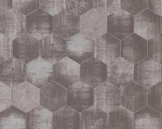 A.S. Création Tapete «Grafik, Beige, Grau, Metallics, Silber» 363302