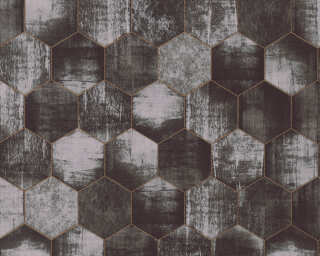 A.S. Création Wallpaper «Graphics, Copper, Grey, Metallic, Silver» 363304